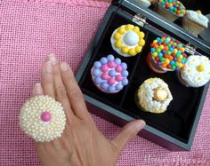 CUPCAKE RINGS!! would be wonderful for a girls party or even and engagement party!!