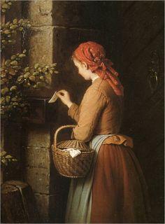 Johann Georg Meyer von Bremen (german, 1813-1886)_the letter_753x1024