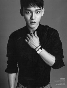 Chen, exo, and handsome image  >>> he looks a little photoshopped at the waist though . I know his waist is really small but it doesn't make his shoulders appear that broad...maybe it's the angle.