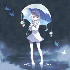 Kết quả hình ảnh cho anime girl with umbrella