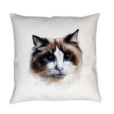 fluffy cat Everyday Pillow