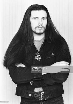 Portrait of musician Ian Astbury, of the band 'The Cult', circa 1987.