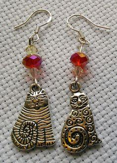 Odd cat earrings £3.50