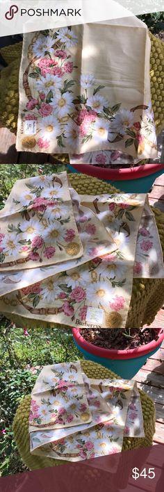 VTG Burberry women's handkerchief NWOT &a Vintage!! Excellent condition, no flaws!! Burberry Accessories Scarves & Wraps