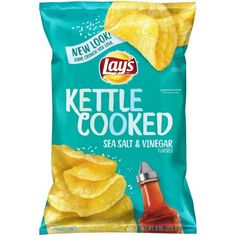 Lay's® Kettle Cooked Sea Salt and Vinegar Potato Chips 8 oz. Bag