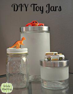 DIY Toy Jars via Simply {Darrling} #DIY #jars #toys #DIYgiftsforkids