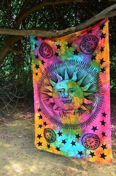 We Live By The Sun Feel Moon Tapestry In 2018 Design Styles Bohemian Pinterest Tie Dye And Room