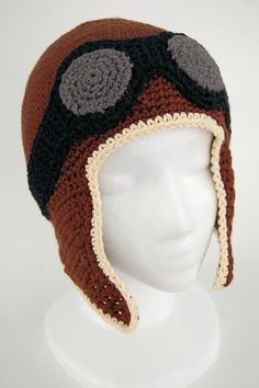 Aviator Hat -- Made and posted on Knithacker.com by Jessica AKA Knot by Grandma