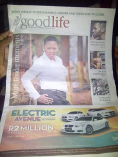 Tender Mavundla - Gospel Moments - Feature in The Mercury 18 October 2013. Album now available.