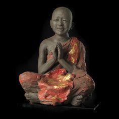 Méditation, feuille d or de Birmanie, photo Boris Chauvet