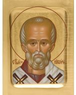 painted icon of saint nicholas the wonderworker