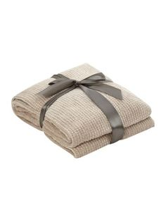 Linea Natural chenille throw - House of Fraser