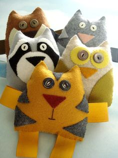 Felt Forest Critters Toy Sewing Pattern PDF von preciouspatterns