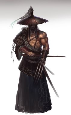 Zukus, Master of the Many Paths, a wandering Orc Ronin, the wandering warriors of the Orc clans