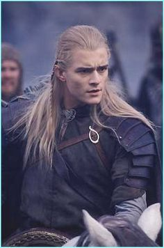 Legolas, a visual highlight from Lord of the Rings with his long, blonde hair & slender figure!