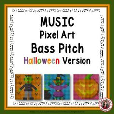 This resource is meant to be used with Google Sheets™ and can be assigned inside a Music Google Classroom™; perfect for distance learning.Review BASS Notes with fun and engaging HALLOWEEN Music Mystery Pixel Art activities. Learning Music, Music Education, Music Worksheets, Worksheets For Kids, Music Classroom, Classroom Resources, Halloween Music, Child Teaching, Music Activities