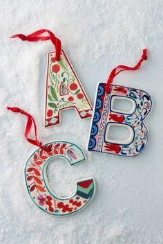 Ceramic Monogram Ornament