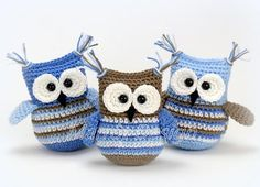 Crochet pattern Owl Pipa - A free Dutch from owl Pipa. Do you also want to crochet owl Pipa? Then read more about the Crochet - Crochet Amigurumi, Crochet Toys, Crochet Baby, Free Crochet, Crochet Birds, Crochet Animals, Knitting Patterns, Crochet Patterns, Wedding Tattoos