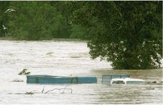via A truck sat submerged in the flood waters at the Southland Dog Park as the Bow River burst its banks in some of the worst flooding in years in Calgary on June Photograph by: Colleen De Neve, Calgary Herald Images Of Flood, Kindness Of Strangers, Dog Park, Calgary, Rivers, Banks, Southern, Truck, June