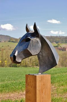 DIY Horse head welding sculpture patterns - Welding Projects about you searching for. Welding Art Projects, Metal Art Projects, Diy Welding, Metal Welding, Welding Tools, Welding Ideas, Diy Tools, Diy Projects, Project Ideas