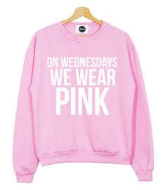 WEDNESDAYS-WEAR-PINK-SWEATER-JUMPER-T-SHIRT-MEAN-GIRLS-YOU-CANT-SIT-WITH-US-SWAG