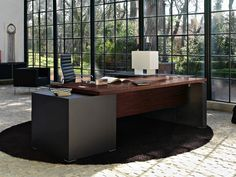 Rectangular executive desk EGO by Sinetica Industries