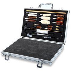 74pcs Universal Hunting Hand Shot Gun Accessories Cleaning Smithing Kits Set Rifle Pistol Gun Case Cleaner With Case Box For Gun