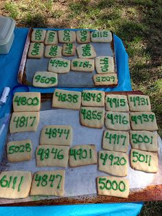 House number cookies for a neighborhood party block party food recipe House number cookies for neighborhood party Neighborhood Party, Housewarming Party, Block Party, Summer Bbq, Party Items, Vegan, Diy Party, Holiday Parties, Party Planning