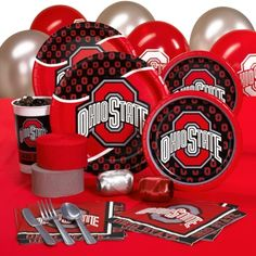Ohio State Buckeyes College Party Pack for 16 Guests