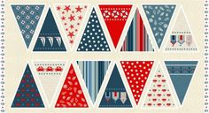MAKOWER SEAVIEW 1642/1 BUNTING FLAGS