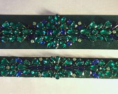 Emerald Grosgrain Ribbon bridal sash