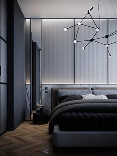 Home Interior Company Project HD- 345 - Dezign Ark (Beta) Master Bedroom Interior, Bedroom Bed Design, Bedroom Black, Modern Bedroom Design, Contemporary Bedroom, Living Room Interior, Home Decor Bedroom, Bedroom Wall, Modern Interior