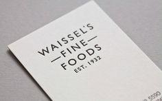 Waissels Fine Foods. | Two Times Elliott. Creative Agency, Notting Hill. +44 (0)203 214 3133