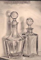 Pencil Sketch Drawing, Pencil Shading, Basic Drawing, Pencil Art Drawings, Art Drawings Sketches, Shading Drawing, Still Life Drawing, Still Life Art, Bottle Drawing