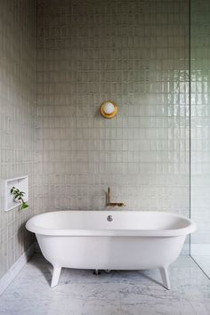 TILES Hecker Guthrie Transforms Men's Retirement Home Into a Grand Victorian Residence Bad Inspiration, Bathroom Inspiration, Bathroom Ideas, Bathroom Styling, Bathroom Designs, Bathroom Tubs, Remodel Bathroom, Bathroom Vanities, Bathroom Renovations