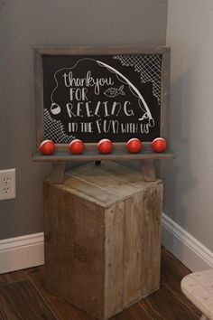 Fishing theme decor first birthday The Big one chalk board