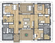 Sims 4 House Design, Floor Layout, Sims 4 Houses, House Drawing, Country House Plans, Future House, Tiny House, Home And Family, Floor Plans