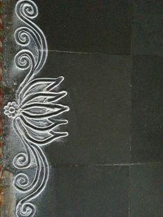 Lotus  #rangoli #chalk #riceflour #drawing #floorart #art #lotus #diwali #decoration #craft #floor