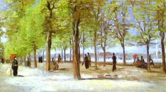 And Artist Famou Their Work Van Gogh | ... Jardin du Luxembourg - Famous Art work & Drawing by Vincent van Gogh