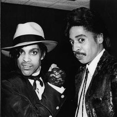 "welcometothedawn: ""Prince and Morris Day.  """