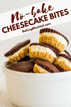These Chocolate-covered No-bake Cheesecake Bites With Graham Cracker Crust are the perfect easy summer desserts. | #cheesecake | #summer | #easydesserts |