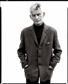 Samuel Beckett by Richard Avedon // Samuel Barclay Beckett (13 April 1906 – 22 December 1989) was an Irish avant-garde novelist, playwright, theatre director, and poet, who lived in Paris for most of his adult life and wrote in both English and French. His work offers a bleak, tragicomic outlook on human nature, often coupled with black comedy and gallows humour.