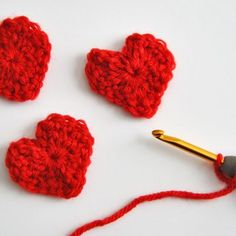 Easy & Free Heart Crochet Pattern for Valentine's Day