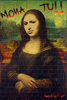 Imagen creada con gimp a partir del cuadro de Da Vinci, La Mona Lisa. Creación propia.