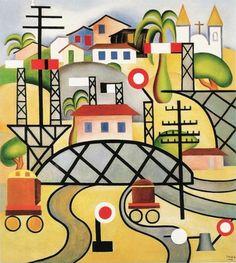 Tarsila do Amaral.  E.F.C.B. 1924.  Oil on canvas.... - Poéticas Visuais