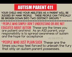 Great Autism Parent 411 qoute
