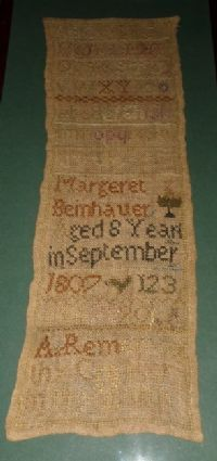 A wonderful New England sampler from Cross Stitch Samplers, Cross Stitch Patterns, Primitive Stitchery, Pennsylvania Dutch, Needful Things, Sewing Notions, Rug Hooking, Needle And Thread, Primitives
