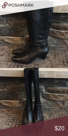 """AK back stiletto boots Great condition. 1"""" heel. """" I flex """" . Only worn a few times! Anne Klein Shoes Heeled Boots"""