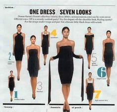 infinity dress and how to do each style