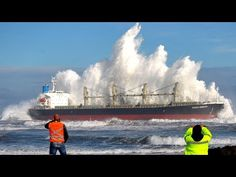 giant waves at sea storm, ship in storm videos. Tsunami Waves, Giant Waves, Sea Storm, Iceland Waterfalls, History Of Photography, Nature Adventure, Sea Waves, Disney Cruise Line, What A Wonderful World